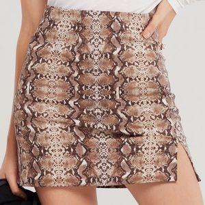 Storets-Lucky Snake Print Skirt